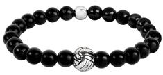 Troli Čierny korálkový náramok Volleyball