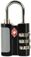 Rock varnostna kodna ključavnica TA-0005, črna - Odprta embalaža