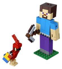 LEGO Minecraft 21148 Minecraft veľká figúrka: Steve s papagájom
