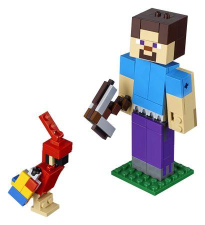 LEGO Minecraft 6251771 Minecraft nagy figura: Steve papagájjal
