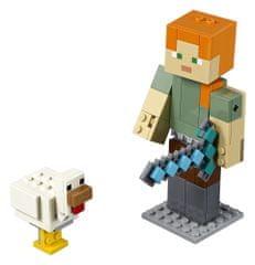 LEGO Minecraft 21149 Minecraft veľká figúrka: Alex s kuraťom