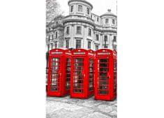 Dimex Fototapeta MS-2-0020 Londýn - telefónne búdky 150 x 250 cm