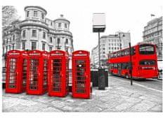 Dimex Fototapeta MS-5-0020 Londýn - telefónne búdky 375 x 250 cm
