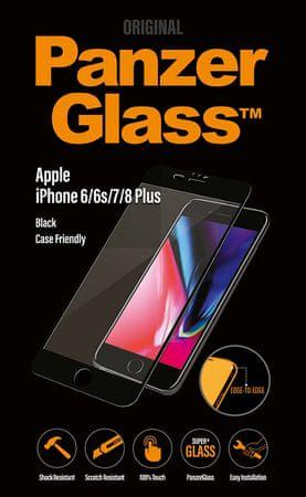 PanzerGlass Edge-to-Edge az Apple iPhone 6/6s/7/8 Plus telefonokra, fekete (2619)