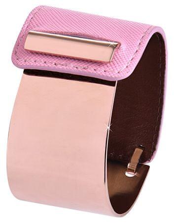 Troli Divat karpere acélból és bőrből bronz / rózsaszín