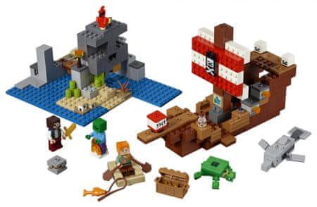 LEGO klocki Minecraft 21152 Przygoda ze statkiem pirackim