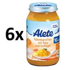 ALETE BIO Rýže s krůtím masem, mrkev a smetana - 6x220g