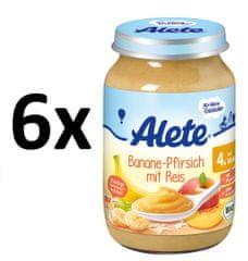 ALETE BIO Banánovo-broskvový příkrm s rýží - 6x190g
