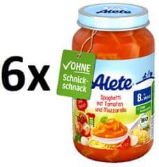 ALETE BIO Špagety s rajčaty a mozzarelou - 6x220g