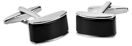 Troli Fekete és ezüst mandzsettagombok