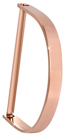 Troli Luxus rózsaszín aranyozott karkötő