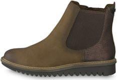 Tamaris Dámske členkové topánky 1-1-26409-31-394 Espresso comb