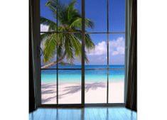 Dimex Fototapeta MS-3-0203 Okno na pláž 225 x 250 cm