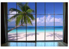 Dimex Fototapeta MS-5-0203 Okno na pláž 375 x 250 cm
