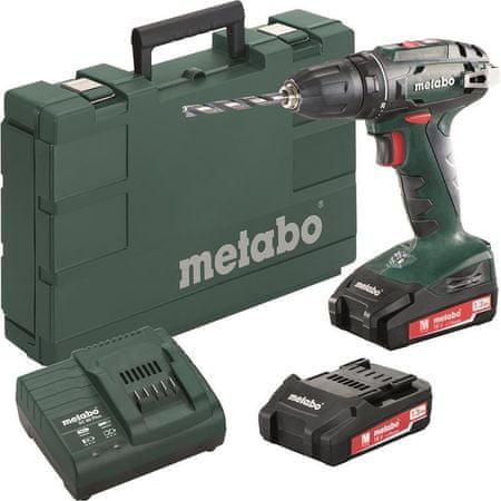 Metabo Wiertarka akumulatorowa BS 18 Top Seller 2× 1,3 Ah, kufer