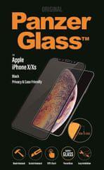 PanzerGlass Edge-to-Edge Privacy az Apple iPhone X/Xs fekete készülékhez (P2632)