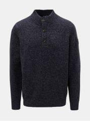 Fynch-Hatton modrý žíhaný svetr z Merino vlny