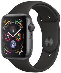 Apple Watch Series 4, 40mm, pouzdro z vesmírně šedého hliníku/černý řemínek - rozbaleno