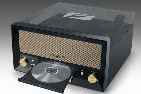 Gramorádio Muse MT-110 3 rychlosti gramofonu digitální ladění rádia retro provedení CD přehrávač