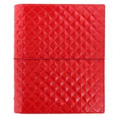 Filofax Diář Domino Luxe A5 červený