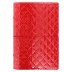 Filofax Diář Domino Luxe osobní červený