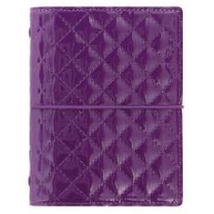 Filofax Diář Domino Luxe kapesní fialový