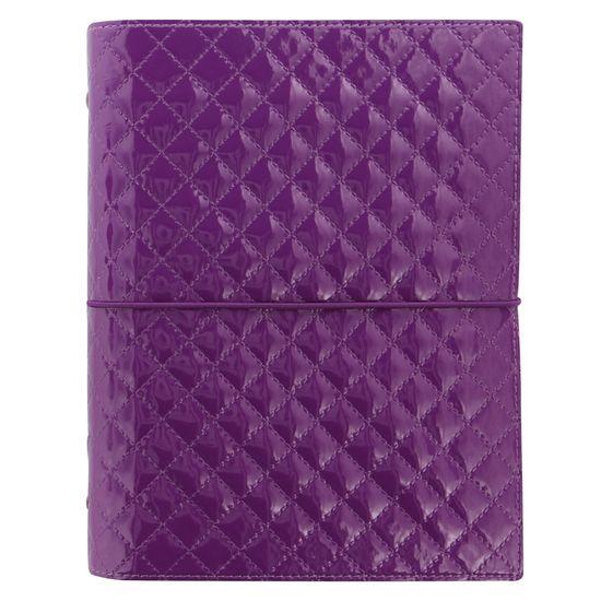 Filofax Diář Domino Luxe A5 fialový