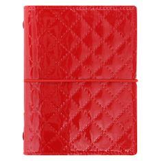 Filofax Diář Domino Luxe kapesní červený