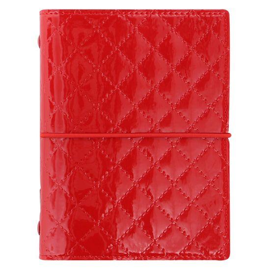 Filofax Diár Domino Luxe vreckový červený