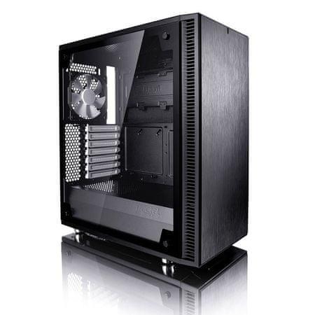 Fractal Design ohišje MIDI T ATX W/O PSU DEFINE C BLACK TG WINDOW, črno