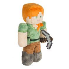 J!NX plišasta figura Minecraft Alex Plush, 30,5 cm