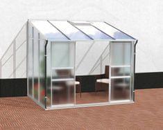 VITAVIA skleník VITAVIA IDA 5200 matné sklo 4 mm + PC 6 mm strieborný