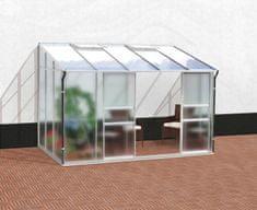 VITAVIA skleník VITAVIA IDA 6500 matné sklo 4 mm + PC 6 mm stříbrný