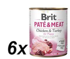 Brit karma dla psa Paté & Meat Puppy, 6x800g