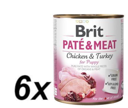 Brit Paté & Meat Puppy 6x800g