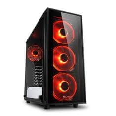 Sharkoon kućište MIDI T ATX W/O PSU TG4 RED