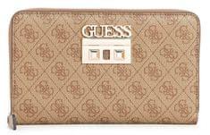 ac4bf13bec Guess Dámska peňaženka Logo Luxe Large Passport Case Brown