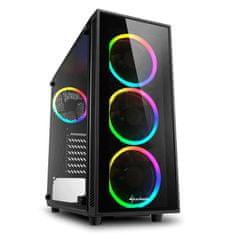 Sharkoon kućište SHARKOON MIDI T ATX W/O PSU TG4 RGB