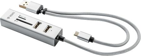 Yenkee YHC 102SR USB OTG COMBO HUB + kártyaolvasó 45012402
