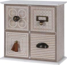 Koopman Drevená skrinka so 4 zásuvkami