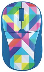 Trust brezžična optična miška Primo, modra, geometrija