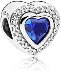 Pandora Luxusné srdiečkový korálik s modrým kryštálom 797608NANB striebro 925/1000