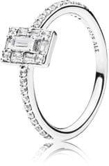 Pandora Luksuzen peneč prstan iz srebra 197541CZ srebro 925/1000
