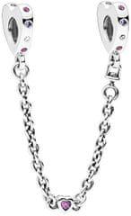 Pandora Biztonsági lánc Bright Heart 797245NRPMX-05 ezüst 925/1000