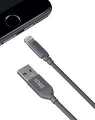 Yenkee przewód zasilający i synchronizacyjny YCU 611 GY USB/lightning 1 m 30015966
