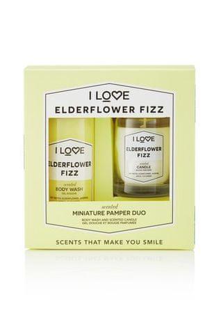 I Love Cosmetics Zestaw podarunkowy z Elderflower Fizz ( Body Wash & Candle)