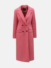 Dorothy Perkins růžový dlouhý kabát
