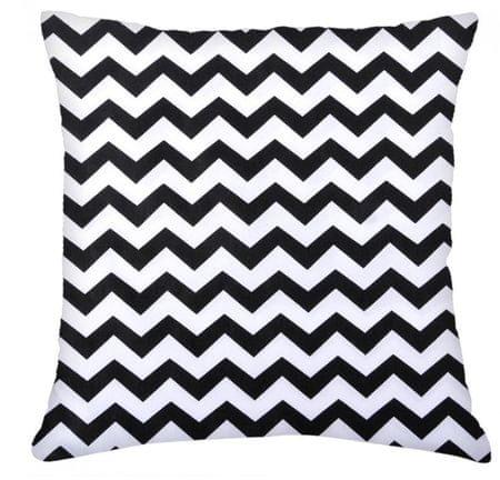 My Best Home vzglavnik Waves, 100% bombaž, bela/črna, 45 × 45 cm