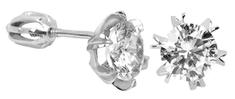 Brilio Silver Kolczyki srebrnego kryształu 436 001 00442 04 - 1,92 g srebro 925/1000