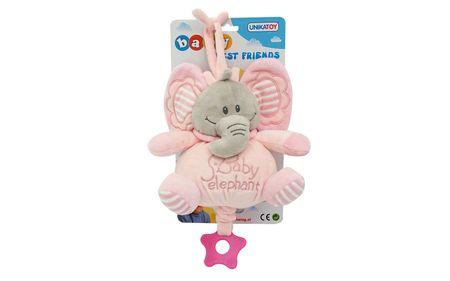 Unikatoy Ge. slon baby na potezanje, rozi, 25295